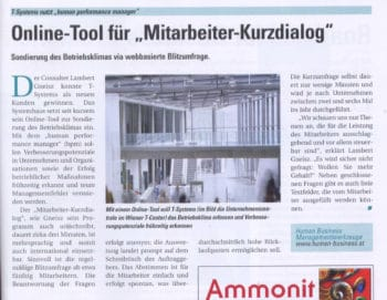 GNEISZ-ADVICE_PR-Clipping_200711_it-t-business_Online-Tool-fuer-Mitarbeiter-Kurzdialog