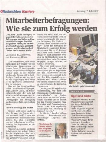 GNEISZ-ADVICE_PR-Clipping_hpm_OberoesterreichischeNachrichten-070707